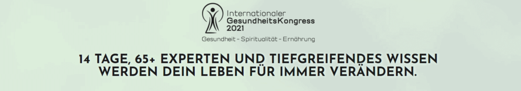 Präventionskurse online internationale Gesundheitskongress 2021